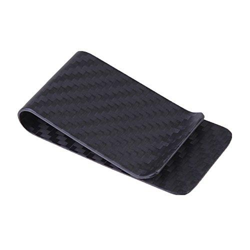 niceEshop(TM Carbon Faser Matte Geld Klipp Kreditkarte Visitenkarte Bargeld Halter (Schwarz)