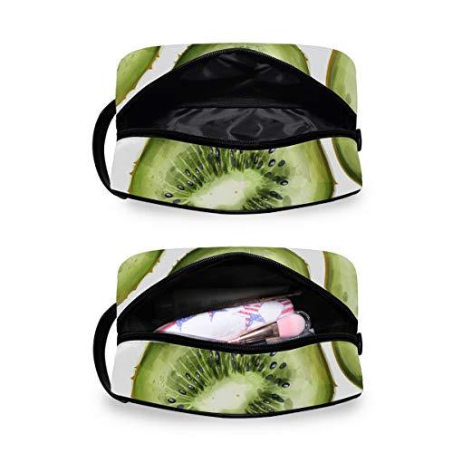 Kulturbeutel für Damen oder Herren – Kiwi-Druck, Handing Kosmetik Make-up Tasche Organizer Tasche für Badezimmer Dusche