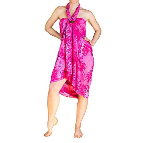 PANASIAM Sarong, zomerdoek in levendige kleuren, handgemaakte waxbatik op hoogwaardige viscose