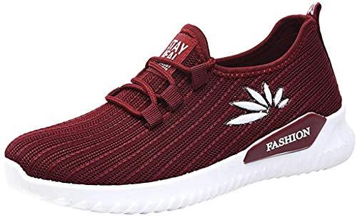 TWISFER Freizeitschuhe Damen Outdoor Mesh Schnürschuhe Sportschuhe Run Atmungsaktive Schuhe Turnschuhe Fliegen Weben Socken Schuhe