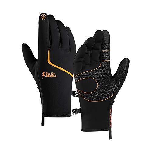 Winterhandschuhe Winter Outdoor Plus Velvet wasserdichte Warme rutschfeste Handschuhe Bildschirm-Fahrradhandschuhe für Damen und Herren