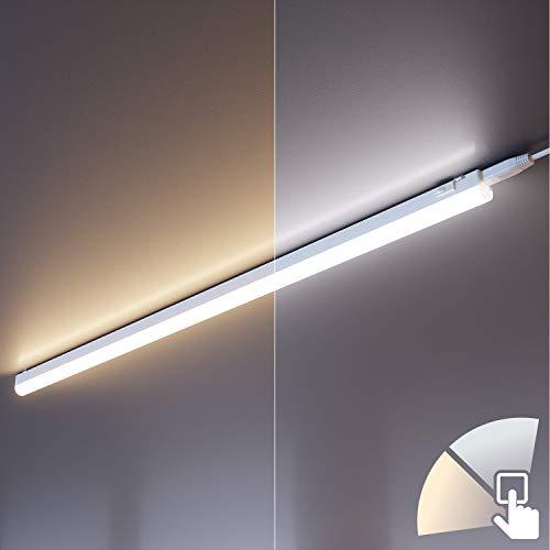 ledscom.de LED Unterbau-Leuchte RIGEL, 87,3cm, Farbtemperatur einstellbar (3000K / 4000K), 10W, 1000lm