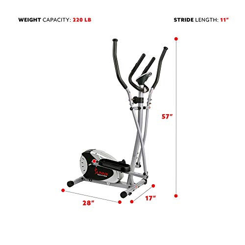 Sunny Health & Fitness SF-E905 Compact Elliptical