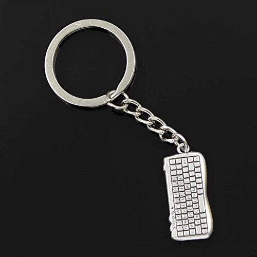 N/ A fashion mannen 30mm sleutelhanger DIY metalen houder ketting vintage computer toetsenbord muis zilveren hanger Gift
