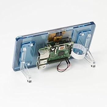 "Raspberry Pi オフィシャル 7"" タッチスクリーン用の、Pimoroni フレーム スタンド 材質:パースペクス 6種類の色から選択"