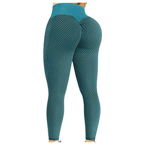 CXDS Damen Leggings Sport Yoga Hose mit Taschen Hohe Taille Bauch Kontrolle Weich Stretch Slim Hosen Gym Athletic Workout Running Tights Hosen