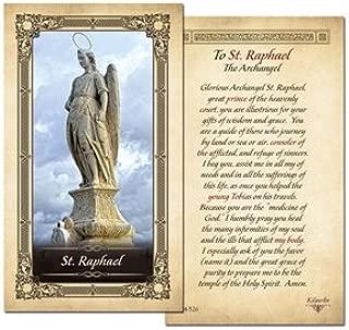 Saint Raphael The Archangel Prayer Card - 25 Pack- Laminated uv