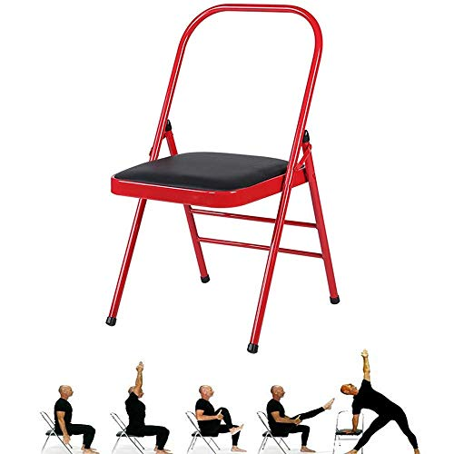 Review Of SAJyj Backless Yoga Chair Prop - Flexibility and Strength Training Tool (Color : Red+Black...