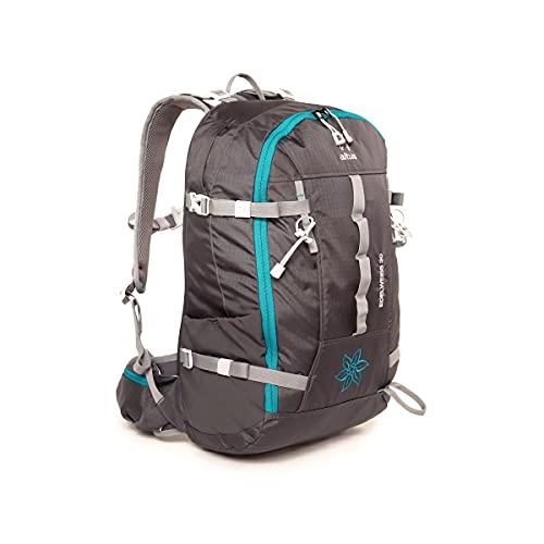 ALTUS - Mochila Trekking Edelweis 30L | Mochila para Montañismo, Trekking, Camping, Viajes | Ideal Recorridos Técnicos, Tejido Ligero y Resistente | Con Sistema de Ventilación (107_antracita)