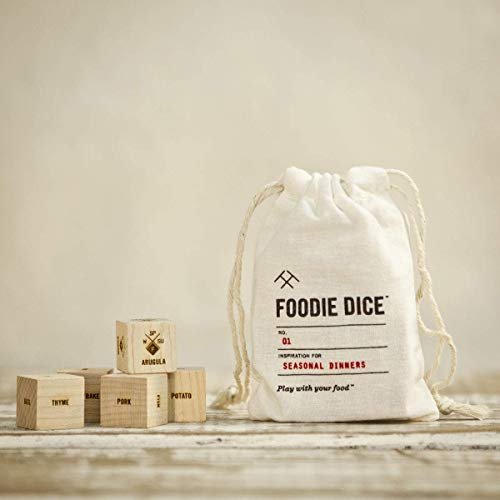 Foodie Dice® No. 1 Seasonal Dinners (pouch) // Foodie gift, cooking, hostess, couples, date night or birthday gift