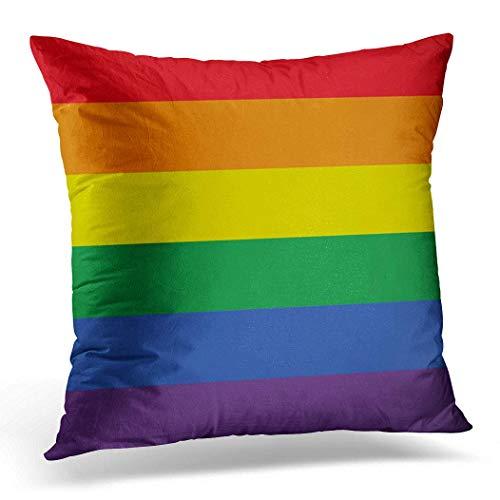 Cuscino con inserto cuscino 45,7 x 45,7 cm, colori colorati della bandiera Gay Pride Rainbow Lgbt World Home Decor cuscino quadrato per letto divano 45,7 x 45,7 cm