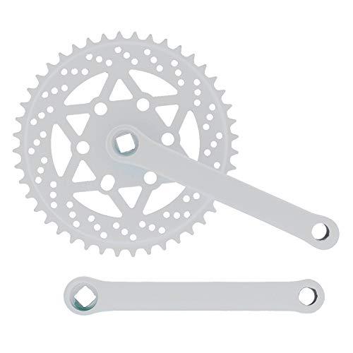 Riscko 007sml Juego De Bielas Bicicleta Personalizada Fixie Tallas S-m-l-l Urb Blanco