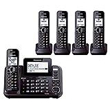 Panasonic KX-TG9542B + Three KX-TGA950B 5-Handset Corded / Cordless System (2 Line) DECT 6.0 1.9Ghz
