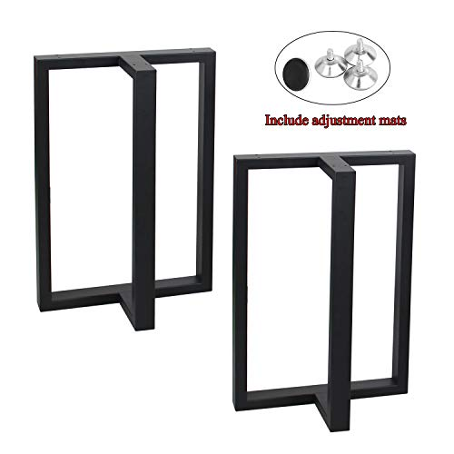 MBQQ Furniture Legs 28Height 17.7Wide Rustic Decory T Shape Table Legs,Heavy Duty Metal Desk Legs,Dining Table Legs,Industrial Modern, DIY Iron Bench Legs