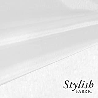 """59"""" Diamond White Organza Fabric by the Bolt - 50 Yards"""