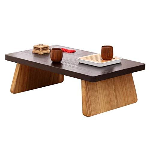 FTFTO Decoración de la Vida Mesas de café Tatami pequeño Mesa de cafetería Cama Escritorio pequeño Sala de Estar Mesa de té Balcón Mesa de Ventana de Madera Maciza (Tamaño: 60 * 35 * 25 cm)