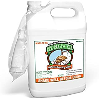 Bed Bug Patrol Bed Bug Killer 1 Gallon, 100% Environmentally Friendly, Family & Pet Safe Bed Bug Killer Formula. Guaranteed.