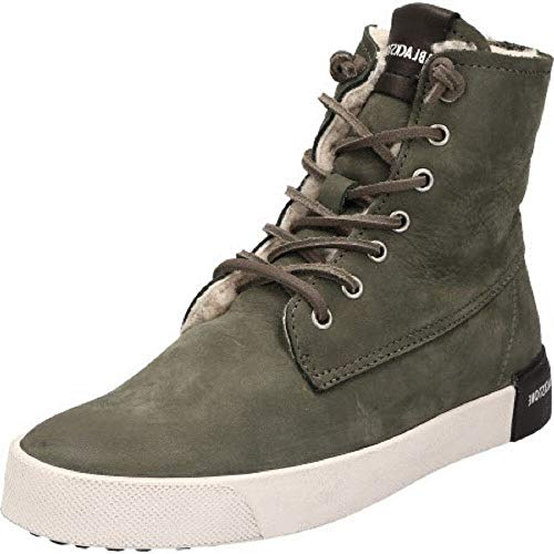 Blackstone Damen QL41 Hohe Sneaker, Grün (Dark Green), 38 EU
