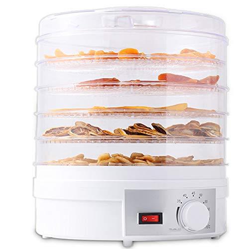 YYBF Dörrgerät, Obst und Gemüse Trockner Dörrautomat Food Dryer Rund300 W 35-70°Cfür Fleisch, Früchte, Gemüse, Pilz, Chili,