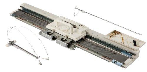 Silver-Reed SK-280 Strickmaschine, Kunstoff, Weiß, 112 x 26 x 120cm (LxBxH) inkl. Fadenführung