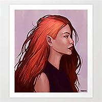 赤毛の美しさ5DDIYダイヤモンドアート大人と子供ギフトダイヤモンドモザイクダイヤモンドキットダイヤモンド絵画フルドリルDIY5Dダイヤモンドアート(40x50cmスクエアダイヤモンド)