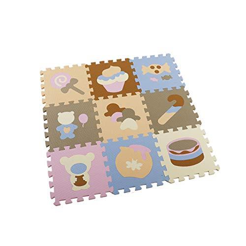 Camisin 9 Piezas Baby Eva Foam Puzzle Mats Alfombras para Niios Juguetes Alfombra para Niios Ejercicio de Enclavamiento Baldosas Alfombra para Niios Pequeeos E
