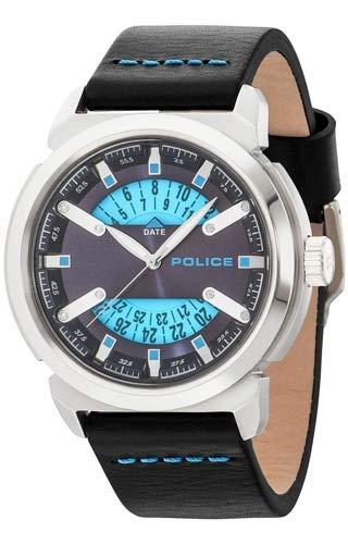 Police Reloj Analógico para Hombre de Cuarzo con Correa en Cuero 14544JS-03