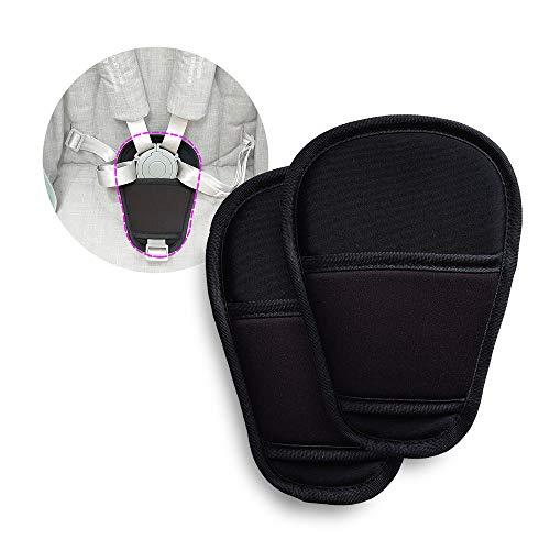 2 piezas de Cubierta de Cinturón de Seguridad para Bebé Almohadilla de la Entrepierna Fundas de Cojín Universal para Cochecito (entrepierna)