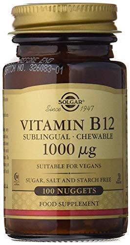 Solgar Vitamina B12, Comprimidos Masticables, Reduce el Cans