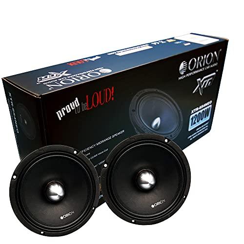 ORION XTR XTR654 NEO 1 Pair (2 Speakers) 6.5 NEODIMIUM HIGH Efficiency 97.9 db 1w 1m MIDRANGE CAR Speaker 300 WATT RMS 1200 WATTS MAX 4 OHMS NEO Magnet CAR Audio CAR Stereo MID-Range 6.5