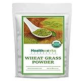 Healthworks Wheatgrass Powder (8 Ounces) | Raw & Organic | Keto, Vegan & Non-GMO | Fiber Support | Rich in Chlorophyll & Antioxidant | Great Plant Protein Source