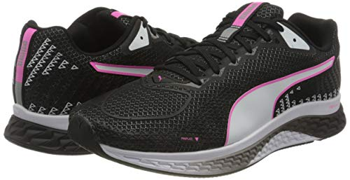PUMA Speed Sutamina 2 Wn's, Zapatillas para Correr de Carretera Mujer, Negro Black White/Luminous Pink, 38.5 EU
