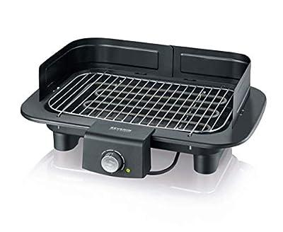 SEVERIN PG 8549 Barbecue-Grill, Tischgrill (2.300 Watt, Grillfläche (37x23cm)) schwarz