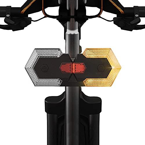 ZHOUYANG Luces de Cola Ultra Brillante de la Bicicleta, luz de Giro Remoto LED de LED Recargable para Bicicletas y Scooter eléctrico