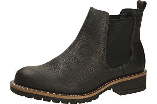 ECCO Damen ELAINE Chelsea Boots, Schwarz (BLACK 1001), 38 EU