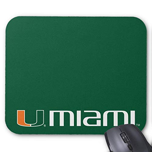 The U Miami - Alfombrilla para ratón (18 x 22 cm)