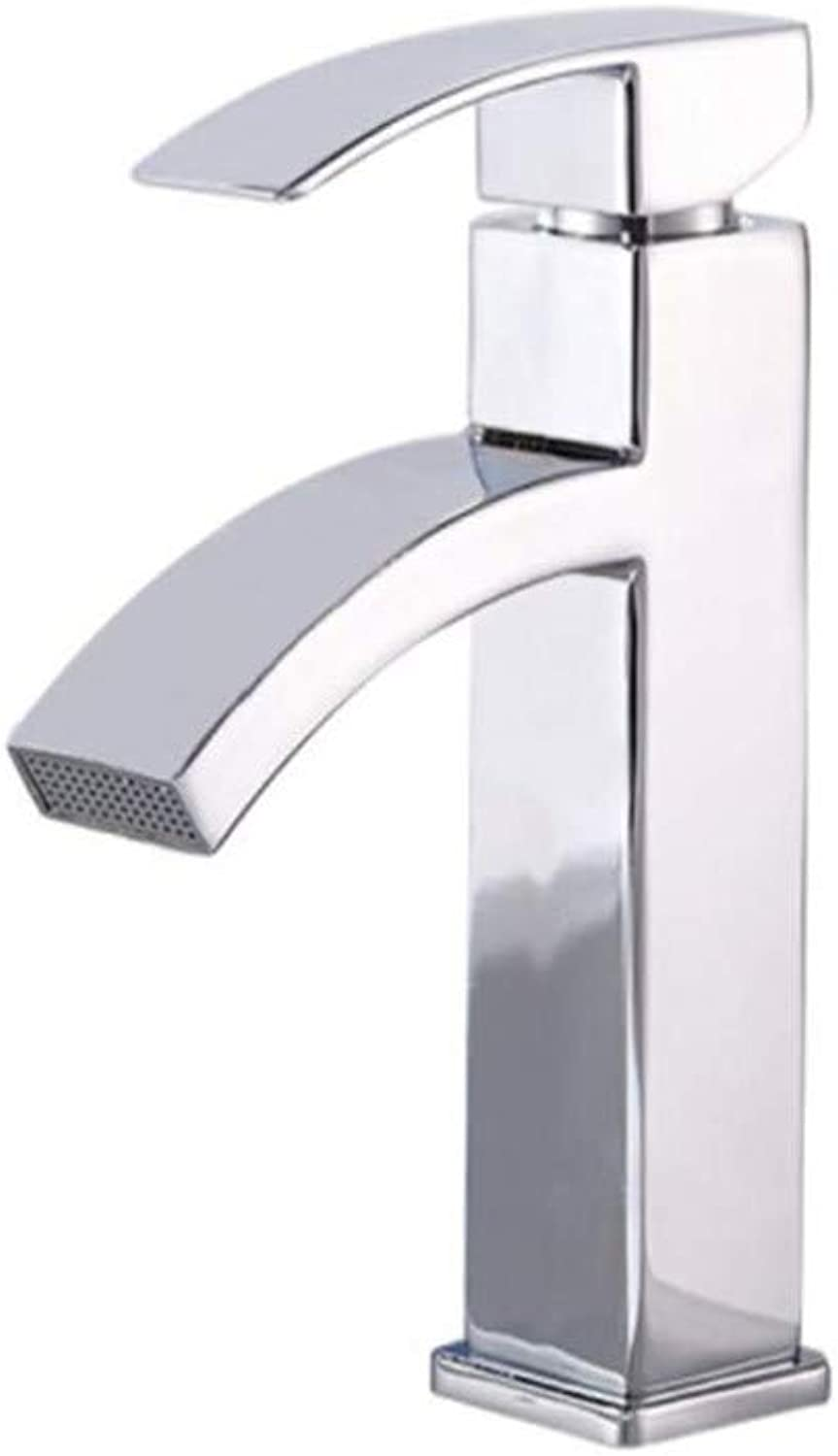 Water Tapdrinking Designer Archwaterfall Outflow Square Hot and Cold Basin Faucet Single Faucet