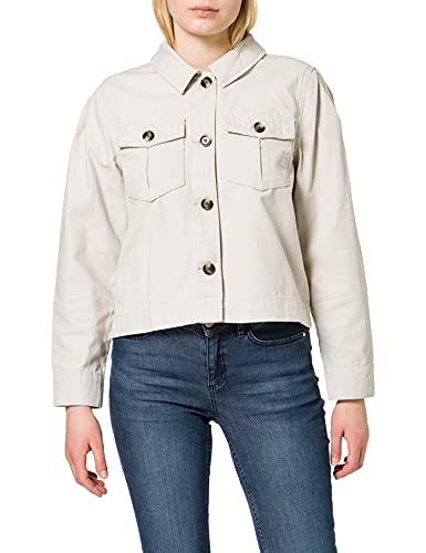 Only ONLCRIS-Marina Life L/S Puff Jacket PNT Chaqueta, Piedra Pumice, XL para Mujer