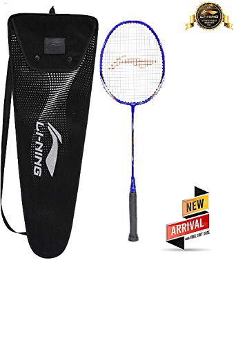 Li-Ning XP 999-PV SINDHU Signature Series Aluminum-Alloy Isometric Strung Badminton Racquet (Blue/Silver) with cover