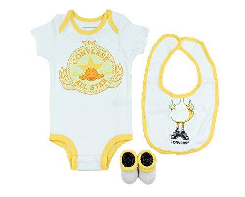 Converse Baby 3-Piece Layette Set (White/Duck (001), 0-6 Months)