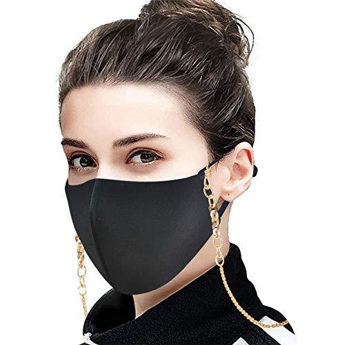 duquanxinquan 3 StückMundschutz_ Maske_ Anhänger Kette Individuelle Halskette Face_ Cover_ Lanyard for Kids School (Braun)