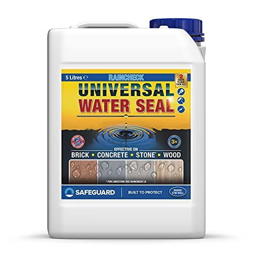 Impermeabilizante hidrofugante Raincheck - 5L - Sellador transparente impermeabilizante para...