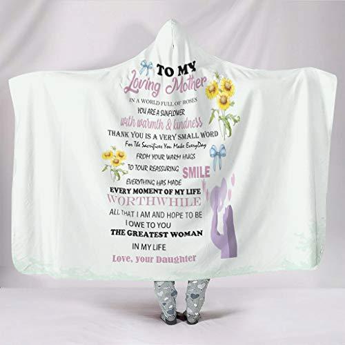 Generic Branded Kuscheldecken to My Mom Original Weich Warm Mehrfarbig Muster Wirft Robe - to My Mom Passend für Alltag für Frauen/Männer Geschenk White 130x150cm