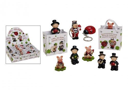 Unbekannt Glücksbringer in der Tüte Schornsteinfeger Marienkäfer oder Schweinchen etc. ca 4-5 cm sortierte Lieferung