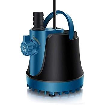 LNSTUDIO 水中ポンプ 底部入水式 循環ポンプ 吐出量1500L/H 最大揚程1.8M 水耕栽培ウォーターポンプ 水族館給水・排水ポンプ 静音設計 25W (25W-1500L/H)