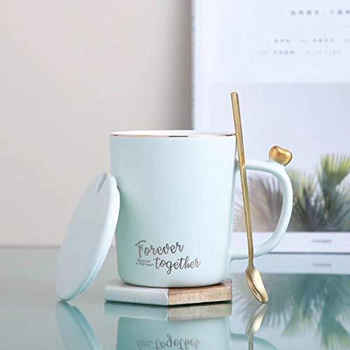 AOARR Cups 400ml eenvoudige kantoorwater keramiek mok creatieve gouden tekening met afdekking paar koffiekopjes melkopjes beker set paar kopjes