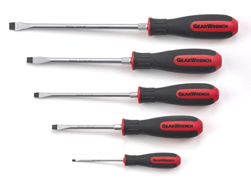 GEARWRENCH 5 Pc. Slotted Dual Material Screwdriver Set - 80053