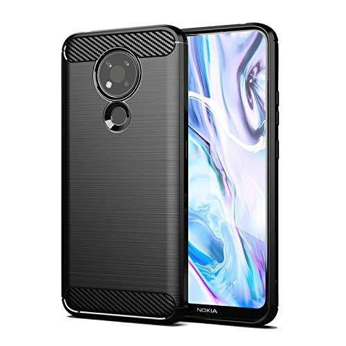 SCL Nokia 3.4 Hülle Für Nokia 3.4 Hülle, [Schwarz] Handyhülle Exquisite Serie-Carbon Design Schutzhülle mit Anti-Kratzer & Anti-Stoß Absorbtion Technologie für Nokia 3.4