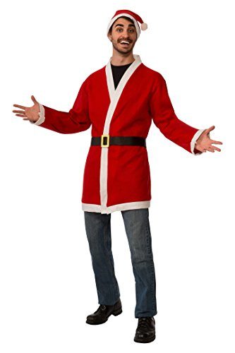 Rubie's unisex adult Clausplay Santa Jacket With Belt and Hat Party Supplies, Multi Color, Standard US