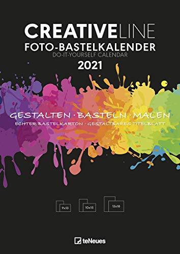 Foto-Bastelkalender schwarz 2021 - Kreativ-Kalender - DIY-Kalender - Kalender-zum-basteln - 21x29,7 - datiert